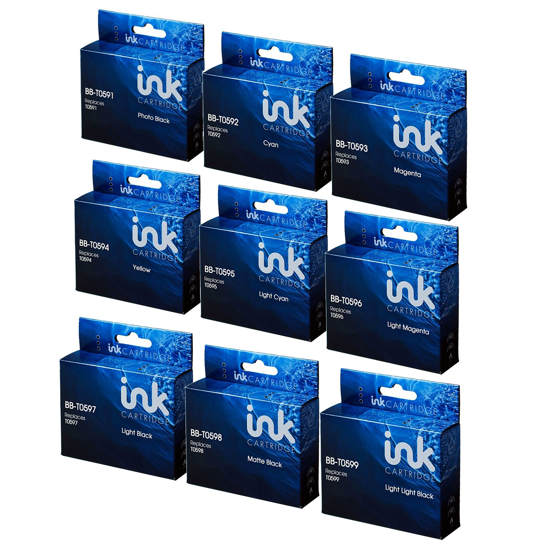 Compatible Epson R2400 T059 Lily Full Set Value Bundle