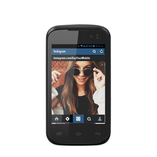 Yezz Andy 3.5EI (3.5 Inch) DualSim Smartphone  Black