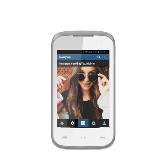 Yezz Andy 3.5EI (3.5 Inch) DualSim Smartphone  White