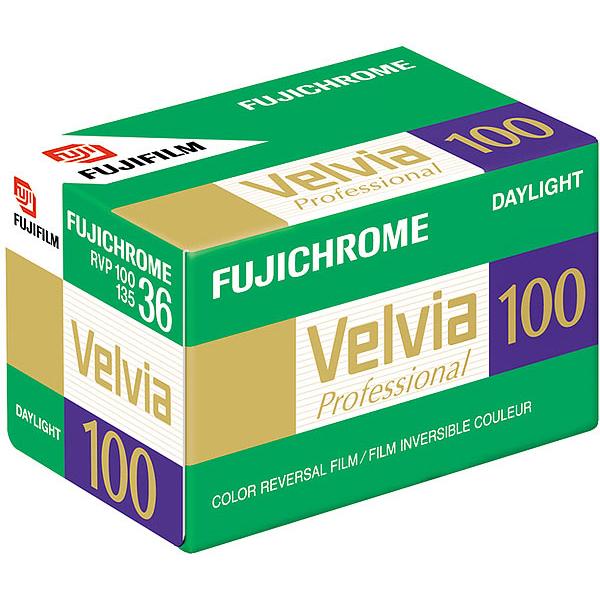 Fuji Velvia 100  RVP 100 13536  Colour Reversal Slide Film (Single Roll)