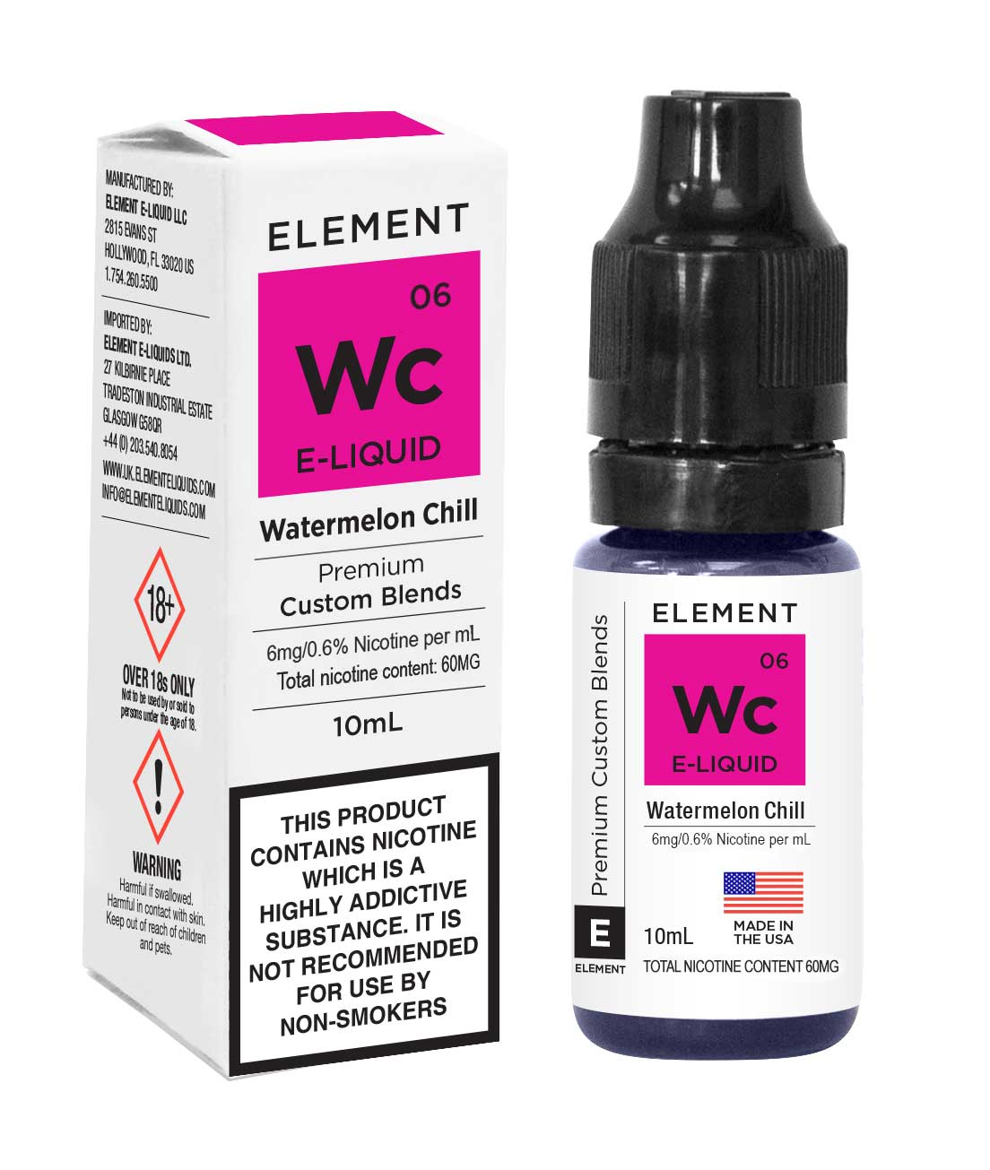 Compare prices for Element E-liquid Watermelon Chill Mint 10ml Bottle - 6mg Nicotine