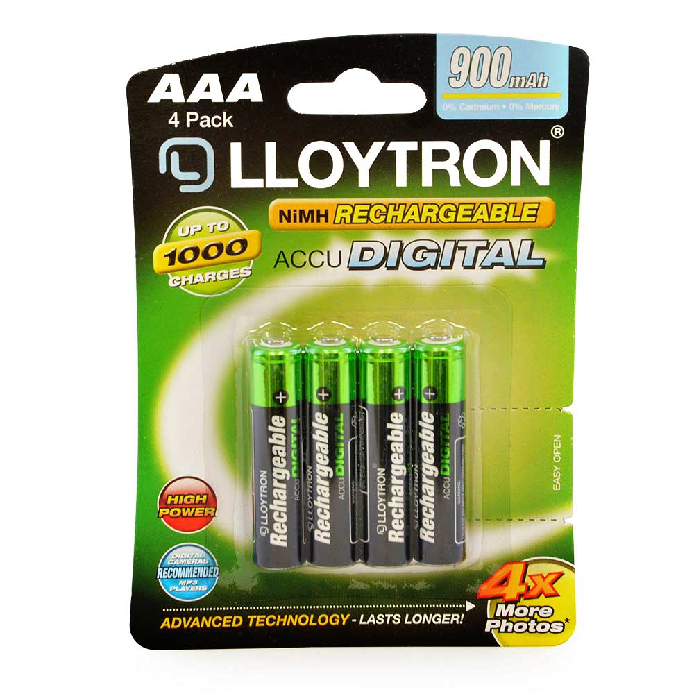 4 x lloytron aaa hr03 nimh rechargeable batteries 900mah dect phones etc b015 ebay. Black Bedroom Furniture Sets. Home Design Ideas