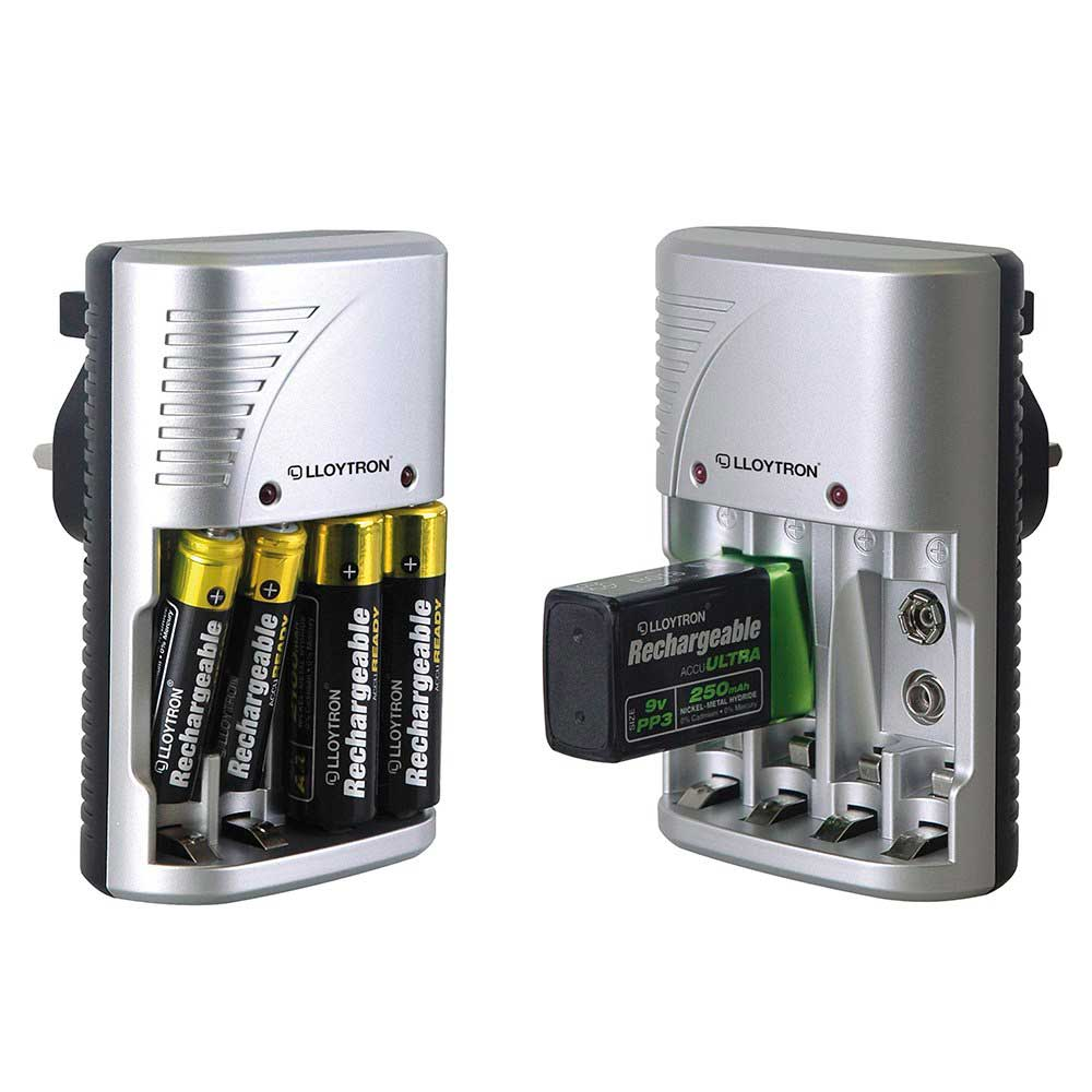 Lloytron AA and AAA Battery Charger with 8x Duracell AA