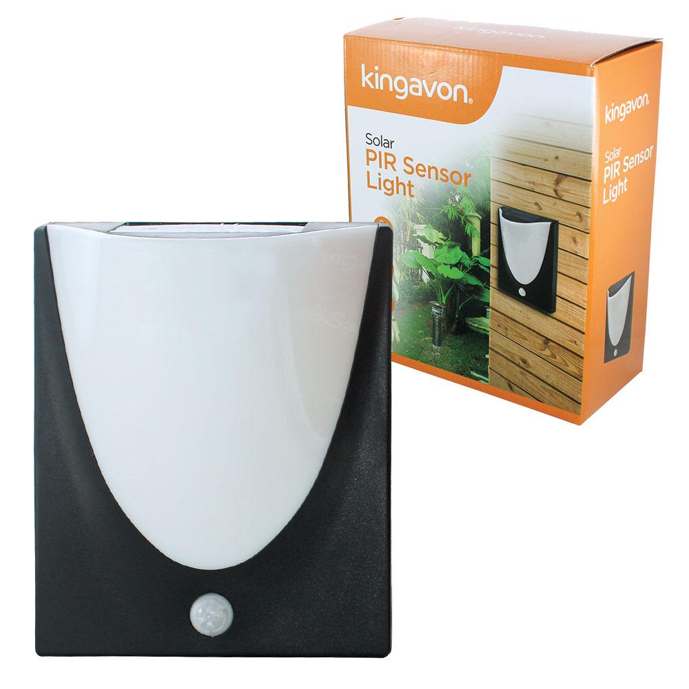 Compare prices for Kingavon PIR Motion Sensor Solar LED Wall Light