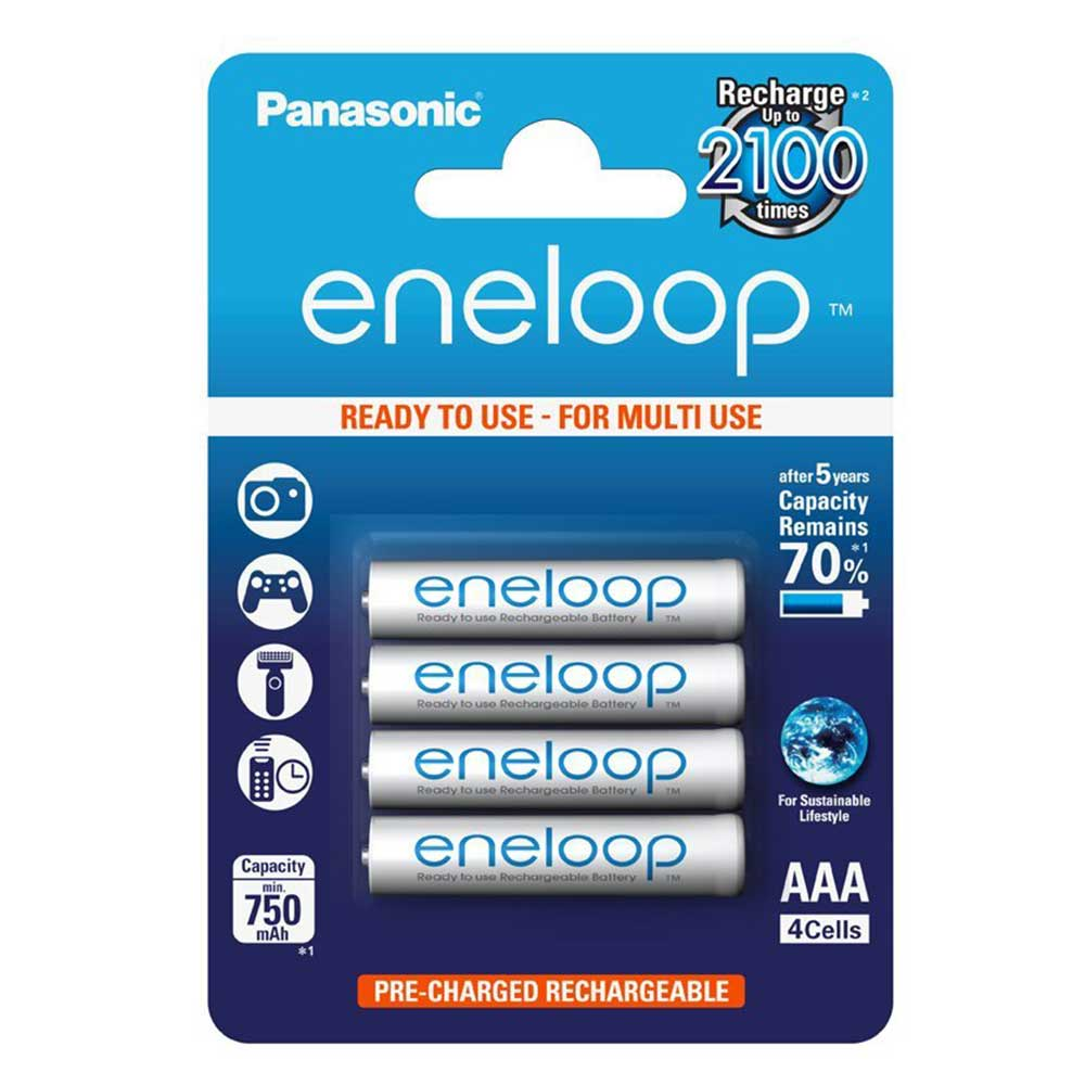 Compare prices for Panasonic Eneloop Rechargeable 800mAh Min. 750mah AAA 4 Pack