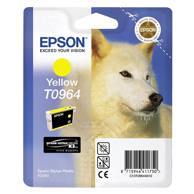 Compare retail prices of **EOL** Epson Original T0964 Husky Ink Cartridge 11.4ml Yellow to get the best deal online