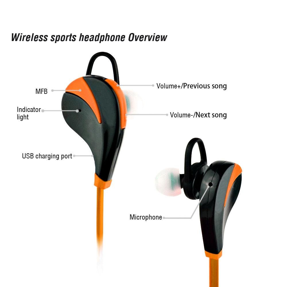 Orange wireless earphones - apple earphones iphone 6 wireless