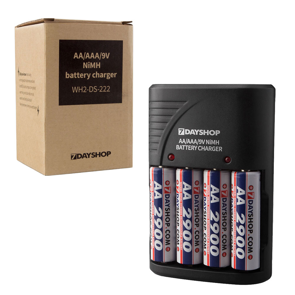 compact aa aaa and 9v nimh mains plug in battery charger uk version ebay. Black Bedroom Furniture Sets. Home Design Ideas