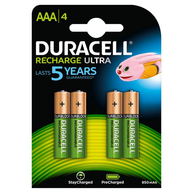 Compare retail prices of ***EOL***Duracell AAA Rechargeable Batteries Duralock Pre and Stay Charged 850mAh - 4 Pack to get the best deal online