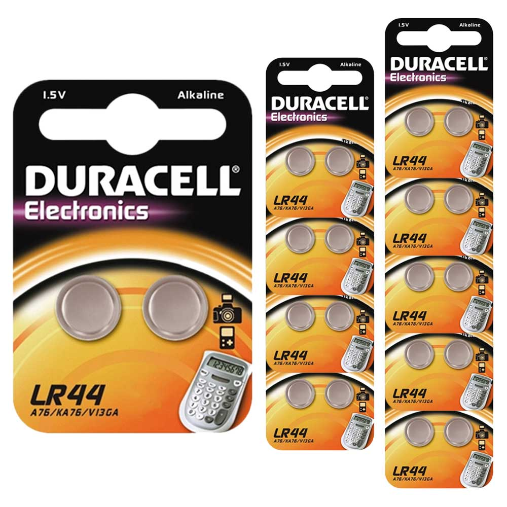 20 x Duracell LR44 1.5V Alkaline Button cell Batteries LR 44 A76 AG13 357 hexbug | eBay