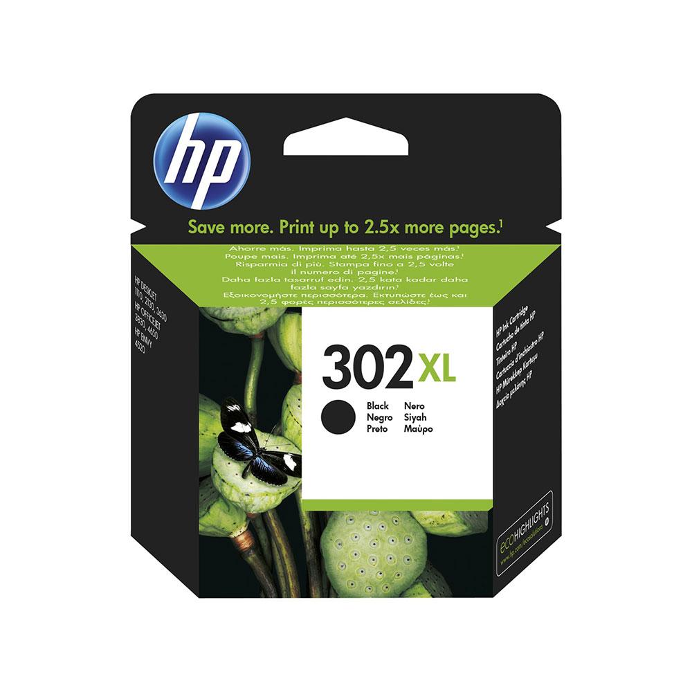 HP Original 302XL High Capacity Black Ink Cartridge (F6U68AE)