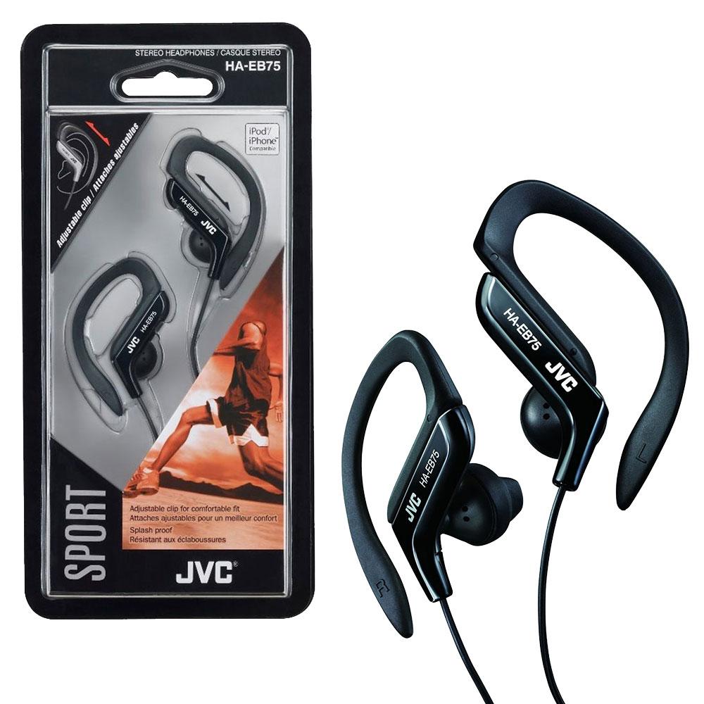 JVC Sports Ear Clip Earphones with Adjustable Clip - Black