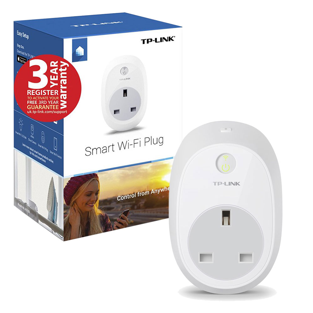 tp link wi fi smart plug hs100 remotely control your devices for apple android ebay. Black Bedroom Furniture Sets. Home Design Ideas