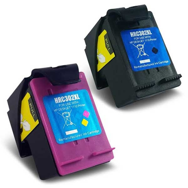 Compare prices for Remanufactured HP 302XL High Capacity Black and Colour Ink Cartridges
