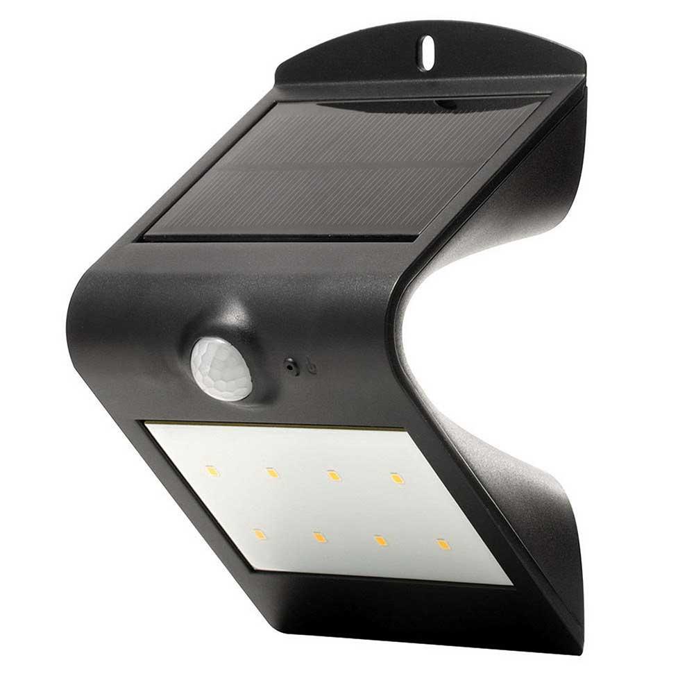 Luceco LEXS30B30-01 Solar Guardian LED PIR Wall Light - Black lowest price