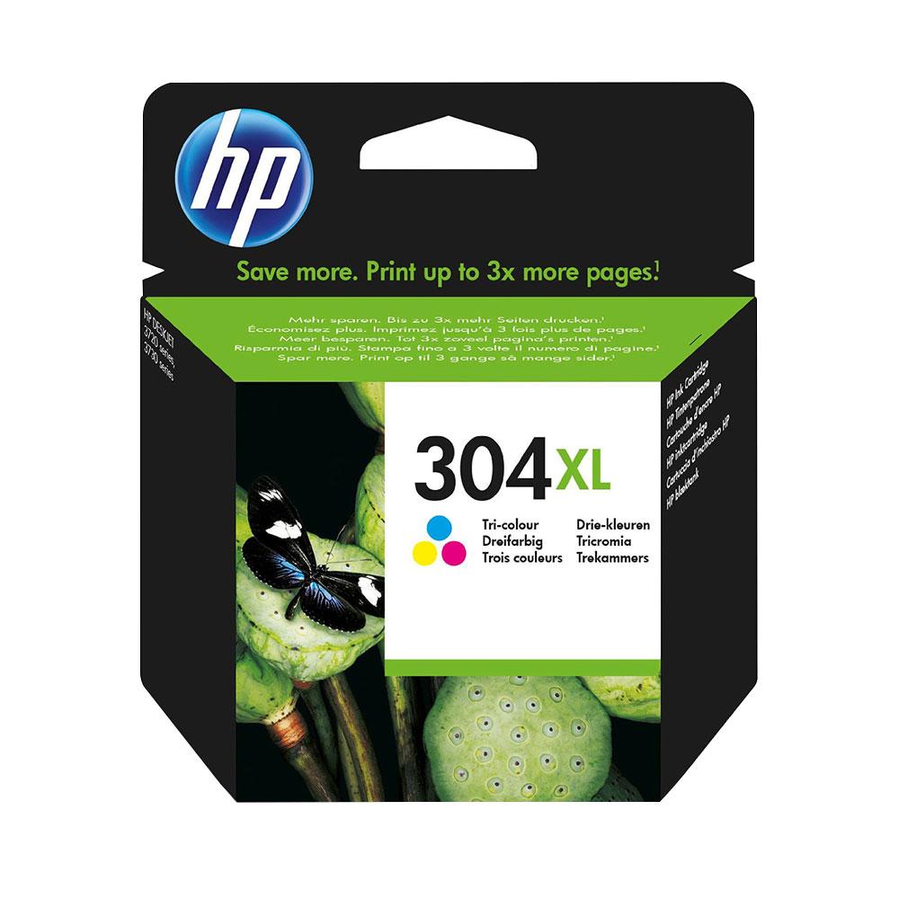 HP 304XL High Capacity Original Tri-Colour Ink Cartridge - N9K07AE