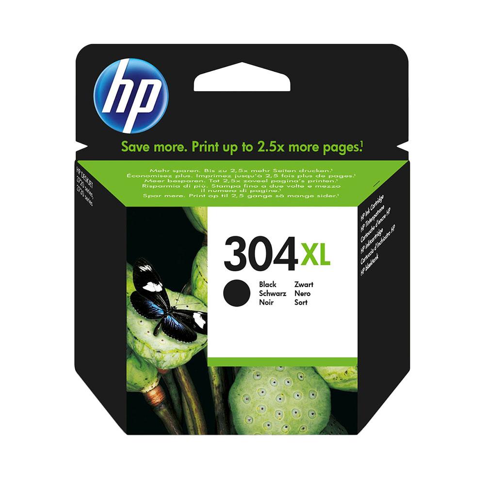 HP 304XL High Capacity Original Black Ink Cartridge (N9K08AE)
