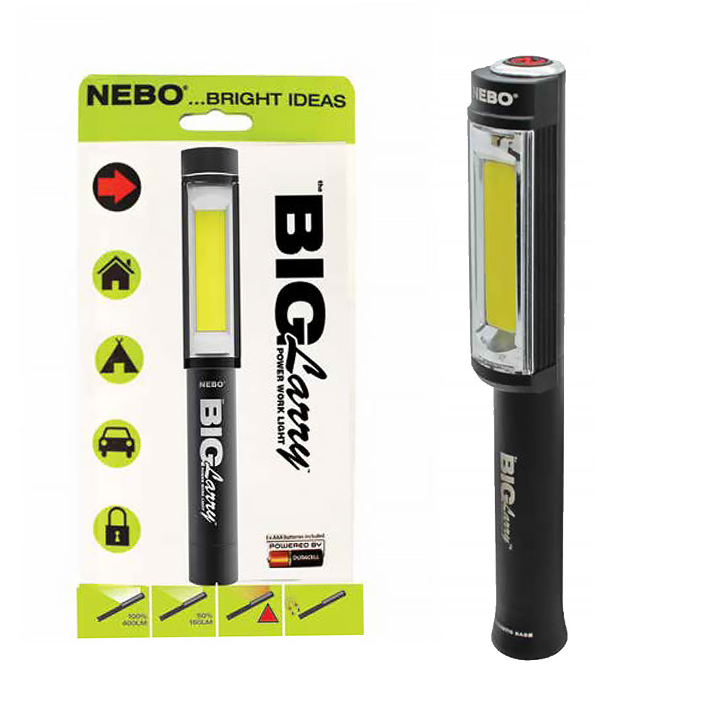 Nebo BIG LARRY Work Light with Emergency Red Flasher - Batteries Included lowest price