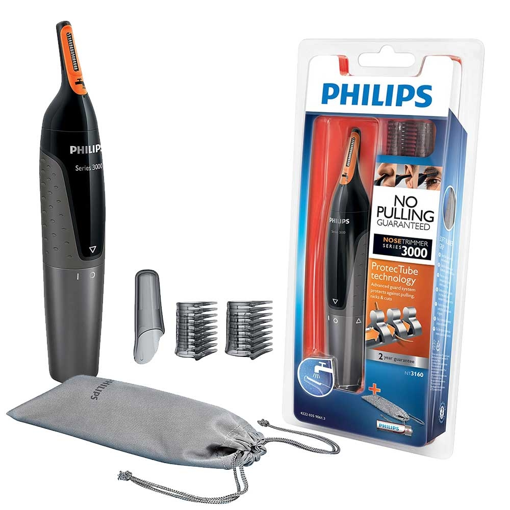 Philips Series 3000 Nose, Ear    Eyebrow Trimmer Kit with Battery and Pouch etc. - NT3160/10