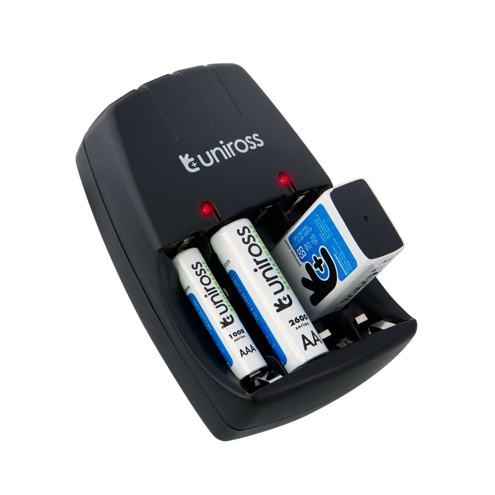 Uniross Compact Wall Charger For Aa Aaa 9v Pp3 Nimh